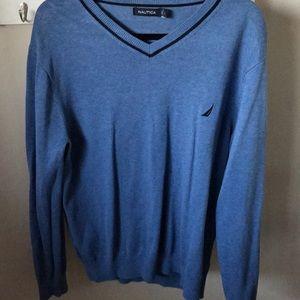 Like new men's nautica v neck sweater size large